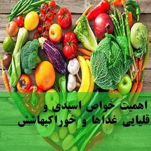 اهمیت خواص اسیدی و قلیایی غذاها و خوراکیها